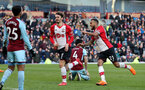 BURNLEY, ENGLAND - FEBRUARY 24: Manolo Gabbiadini(L) of Southampton celebrates after equalising during the Premier League match between Burnley and Southampton at Turf Moor on February 24, 2018 in Burnley, England. (Photo by Matt Watson/Southampton FC via Getty Images)