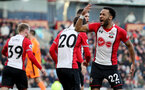 BURNLEY, ENGLAND - FEBRUARY 24: Nathan Redmond of Southampton celebrates during the Premier League match between Burnley and Southampton at Turf Moor on February 24, 2018 in Burnley, England. (Photo by Matt Watson/Southampton FC via Getty Images)
