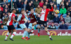 BURNLEY, ENGLAND - FEBRUARY 24: Wesley Hoedt of Southampton during the Premier League match between Burnley and Southampton at Turf Moor on February 24, 2018 in Burnley, England. (Photo by Matt Watson/Southampton FC via Getty Images)
