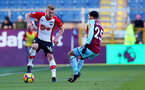 BURNLEY, ENGLAND - FEBRUARY 24: James Ward-Prowse of Southampton during the Premier League match between Burnley and Southampton at Turf Moor on February 24, 2018 in Burnley, England. (Photo by Matt Watson/Southampton FC via Getty Images)