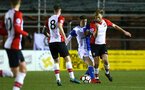 SOUTHAMPTON, ENGLAND - FEBRUARY 26: Aaron O'Driscoll (right) during the U23s match between Southampton FC and Blackburn FC, PLCup match on February 26, 2018 in Leyland in Blackburn, England. (Photo by James Bridle - Southampton FC/Southampton FC via Getty Images)