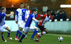 SOUTHAMPTON, ENGLAND - FEBRUARY 26: Nathan Tella (right) during the U23s match between Southampton FC and Blackburn FC, PLCup match on February 26, 2018 in Leyland in Blackburn, England. (Photo by James Bridle - Southampton FC/Southampton FC via Getty Images)