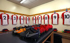 SOUTHAMPTON, ENGLAND - FEBRUARY 26: Locker room view ahead of the U23s match between Southampton FC and Blackburn FC, PLCup match on February 26, 2018 in Leyland in Blackburn, England. (Photo by James Bridle - Southampton FC/Southampton FC via Getty Images)