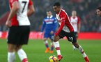 SOUTHAMPTON, ENGLAND - MARCH 03: Sofiane Boufal (right) during the Premier League match between Southampton and Stoke City at St Mary's Stadium on March 3, 2018 in Southampton, England. (Photo by James Bridle - Southampton FC/Southampton FC via Getty Images)