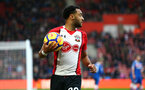 SOUTHAMPTON, ENGLAND - MARCH 03: Nathan Redmond (middle)  of Southampton FC during the Premier League match between Southampton and Stoke City at St Mary's Stadium on March 3, 2018 in Southampton, England. (Photo by James Bridle - Southampton FC/Southampton FC via Getty Images)