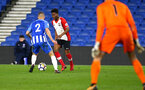 SOUTHAMPTON, ENGLAND - MARCH 05: Nathan Tella (middle) during the PL2 U23's match between Brighton & Hove Albion FC and Southampton FC at American Express Community Stadium on March 5, 2018 in Southampton, England. (Photo by James Bridle - Southampton FC/Southampton FC via Getty Images)