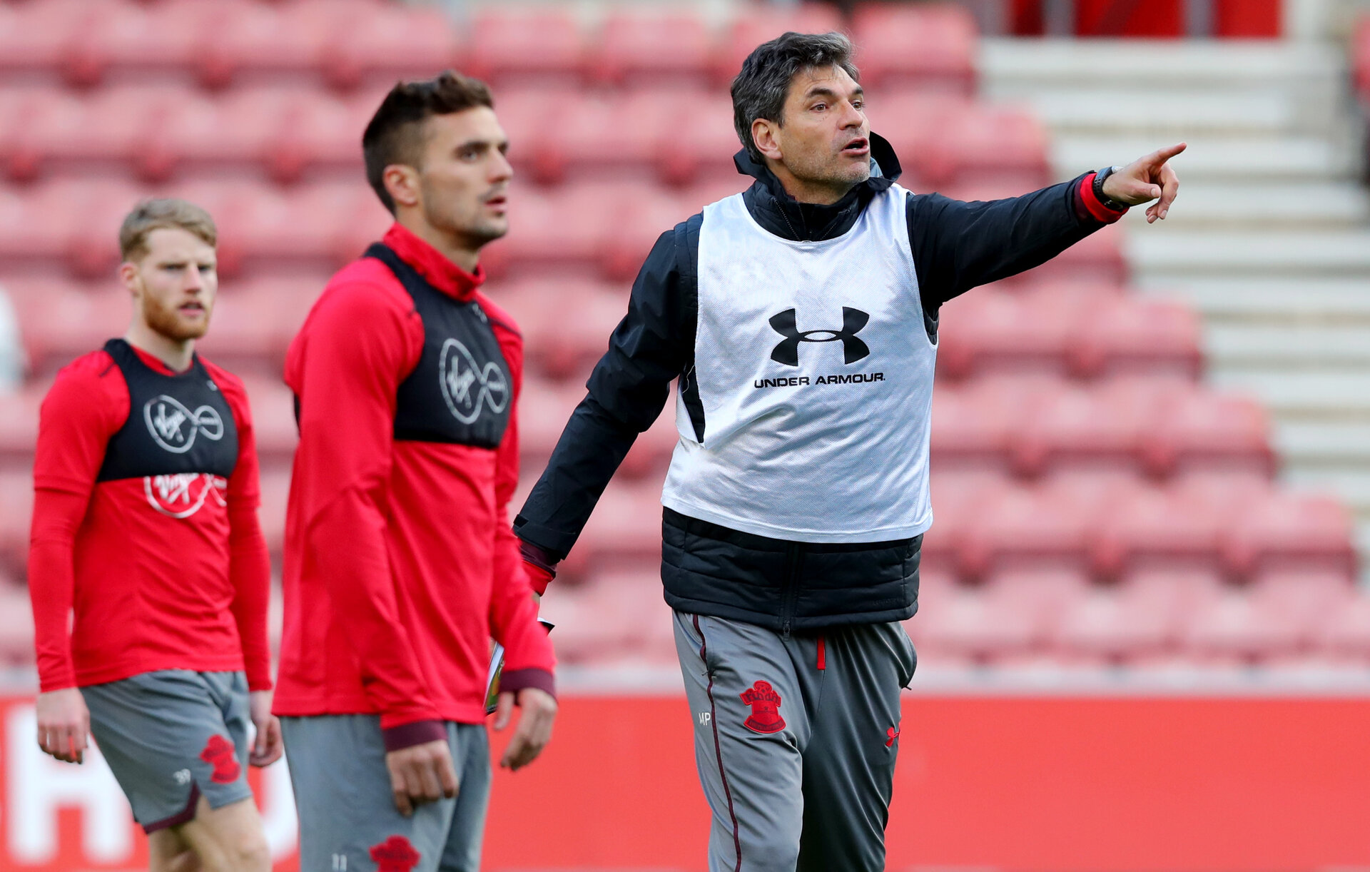 Mauricio Pellegrino during a Southampton FC training session at St Mary's stadium, Southampton, 7th March 2018