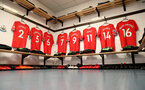 NEWCASTLE UPON TYNE, ENGLAND - MARCH 10: inside the Southampton FC dressing room ahead of the Premier League match between Newcastle United and Southampton at St. James Park on March 10, 2018 in Newcastle upon Tyne, England. (Photo by Matt Watson/Southampton FC via Getty Images)
