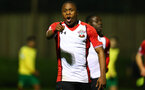 SOUTHAMPTON, ENGLAND - MARCH 12: Michael Obafemi score during the PL2 match between Southampton FC and Norwich City FC at Staplewood Training Ground on March 12, 2018 in Southampton, England. (Photo by James Bridle - Southampton FC/Southampton FC via Getty Images)