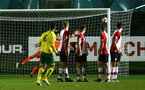 SOUTHAMPTON, ENGLAND - MARCH 12: Norwich City FC Score during the PL2 match between Southampton FC and Norwich City FC at Staplewood Training Ground on March 12, 2018 in Southampton, England. (Photo by James Bridle - Southampton FC/Southampton FC via Getty Images)
