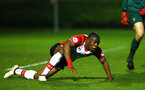 SOUTHAMPTON, ENGLAND - MARCH 12: Michael Obafemi Southampton FC awarded a penalty during the PL2 match between Southampton FC and Norwich City FC at Staplewood Training Ground on March 12, 2018 in Southampton, England. (Photo by James Bridle - Southampton FC/Southampton FC via Getty Images)