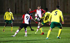 SOUTHAMPTON, ENGLAND - MARCH 12: Jake Hesketh (middle) during the PL2 match between Southampton FC and Norwich City FC at Staplewood Training Ground on March 12, 2018 in Southampton, England. (Photo by James Bridle - Southampton FC/Southampton FC via Getty Images)