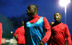 SOUTHAMPTON, ENGLAND - MARCH 12: Michael Obafemi ahead of the PL2 match between Southampton FC and Norwich City FC at Staplewood Training Ground on March 12, 2018 in Southampton, England. (Photo by James Bridle - Southampton FC/Southampton FC via Getty Images)