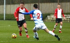SOUTHAMPTON, ENGLAND - MARCH 17: Harry Hamblin (left) during the U18's match between Southampton FC and Reading FC at Staplewood Complex on March 16, 2018 in Southampton, England. (Photo by James Bridle - Southampton FC/Southampton FC via Getty Images)