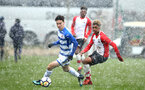 SOUTHAMPTON, ENGLAND - MARCH 17: Enzo Robise (right) during the U18's match between Southampton FC and Reading FC at Staplewood Complex on March 16, 2018 in Southampton, England. (Photo by James Bridle - Southampton FC/Southampton FC via Getty Images)