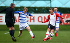 SOUTHAMPTON, ENGLAND - MARCH 17: Harry Hamblin (right) during the U18's match between Southampton FC and Reading FC at Staplewood Complex on March 16, 2018 in Southampton, England. (Photo by James Bridle - Southampton FC/Southampton FC via Getty Images)