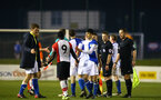 BLACKBURN, ENGLAND - MARCH 20: Full time whistle blown during the U23's PL2 match between Blackburn Rovers FC and Southampton FC at Lancashire County FA on March 20, 2018 in Leyland, England. (Photo by James Bridle - Southampton FC/Southampton FC via Getty Images)