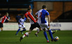 BLACKBURN, ENGLAND - MARCH 20: Jake Hesketh (left) during the U23's PL2 match between Blackburn Rovers FC and Southampton FC at Lancashire County FA on March 20, 2018 in Leyland, England. (Photo by James Bridle - Southampton FC/Southampton FC via Getty Images)