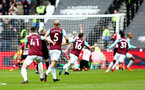 LONDON, ENGLAND - MARCH 31: West Ham United score during the Premier League match between West Ham United and Southampton at London Stadium on March 31, 2018 in London, England. (Photo by James Bridle - Southampton FC/Southampton FC via Getty Images)