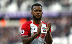 LONDON, ENGLAND - MARCH 31: Ryan Bertrand during the Premier League match between West Ham United and Southampton at London Stadium on March 31, 2018 in London, England. (Photo by James Bridle - Southampton FC/Southampton FC via Getty Images)