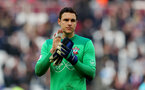 LONDON, ENGLAND - MARCH 31: Alex McCarthy of Southampton during the Premier League match between West Ham United and Southampton at the London Stadium on March 31, 2018 in London, England. (Photo by Matt Watson/Southampton FC via Getty Images)