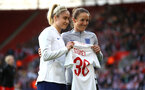 SOUTHAMPTON, ENGLAND - APRIL 06: during the Women's World Cup Qualifier match between England and Wales match at St Mary's Stadium on April 6, 2018 in Southampton, England. (Photo by James Bridle - Southampton FC/Southampton FC via Getty Images)
