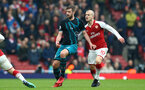 LONDON, ENGLAND - APRIL 08: Jack Stephens (left) of Southampton FC has his shirt tugged by ArsenalÕs Jack Wilshere (right) during the Premier League match between Arsenal and Southampton at Emirates Stadium on April 8, 2018 in London, England. (Photo by James Bridle - Southampton FC/Southampton FC via Getty Images) LONDON, ENGLAND - APRIL 08: Jack Stephens (left) of Southampton FC has his shirt tugged by Arsenal's Jack Wilshere (right) during the Premier League match between Arsenal and Southampton at Emirates Stadium on April 8, 2018 in London, England. (Photo by James Bridle - Southampton FC/Southampton FC via Getty Images)