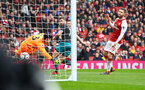 LONDON, ENGLAND - APRIL 08: Shane Long of Southampton FC scores (middle) during the Premier League match between Arsenal and Southampton at Emirates Stadium on April 8, 2018 in London, England. (Photo by James Bridle - Southampton FC/Southampton FC via Getty Images)