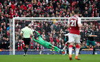 LONDON, ENGLAND - APRIL 08: Alex McCarthy of Southampton is beaten by the shot of Arsenal's Danny Wellbeck during the Premier League match between Arsenal and Southampton at Emirates Stadium on April 8, 2018 in London, England. (Photo by Matt Watson/Southampton FC via Getty Images)