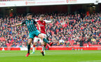 LONDON, ENGLAND - APRIL 08: Shane Long of Southampton opens the scoring during the Premier League match between Arsenal and Southampton at Emirates Stadium on April 8, 2018 in London, England. (Photo by Matt Watson/Southampton FC via Getty Images)