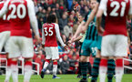 LONDON, ENGLAND - APRIL 08: Mohamed Elneny of Arsenal is sent off during the Premier League match between Arsenal and Southampton at Emirates Stadium on April 8, 2018 in London, England. (Photo by Matt Watson/Southampton FC via Getty Images)