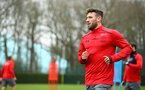 SOUTHAMPTON, ENGLAND - APRIL 12: Sam McQueen during a Southampton FC training session at Staplewood Complex on April 12, 2018 in Southampton, England. (Photo by James Bridle - Southampton FC/Southampton FC via Getty Images)