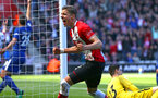 SOUTHAMPTON, ENGLAND - APRIL 14: Jan Bednarek scores for Southampton FC (middle) during the Premier League match between Southampton and Chelsea at St Mary's Stadium on April 14, 2018 in Southampton, England. (Photo by Chris Moorhouse/Southampton FC via Getty Images)