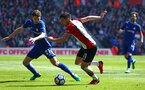 SOUTHAMPTON, ENGLAND - APRIL 14: Dusan Tadic  (middle) during the Premier League match between Southampton and Chelsea at St Mary's Stadium on April 14, 2018 in Southampton, England. (Photo by Chris Moorhouse/Southampton FC via Getty Images)