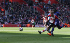 SOUTHAMPTON, ENGLAND - APRIL 14: Josh Sims of Southampton during the Premier League match between Southampton and Chelsea at St Mary's Stadium on April 14, 2018 in Southampton, England. (Photo by Matt Watson/Southampton FC via Getty Images)