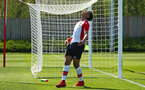 SOUTHAMPTON, ENGLAND - APRIL 18: Enzo Robise frustrated after missing a shot during the U18 Premier League match between Southampton FC and Arsenal FC at Staplewood Complex on April 17, 2018 in Southampton, England. (Photo by James Bridle - Southampton FC/Southampton FC via Getty Images)