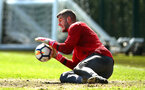 SOUTHAMPTON, ENGLAND - APRIL 18: Fraser Forster during a Southampton FC Training session at Staplewood Complex on April 17, 2018 in Southampton, England. (Photo by James Bridle - Southampton FC/Southampton FC via Getty Images)