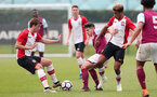 Dan Bartlett(L) and Enzo Robise(R) of Southampton during the U18 premier league match between Southampton and Aston Villa, at the Staplewood Campus, Southampton, 21st April 2018
