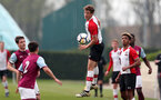 Dan Bartlett of Southampton during the U18 premier league match between Southampton and Aston Villa, at the Staplewood Campus, Southampton, 21st April 2018