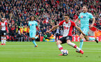 SOUTHAMPTON, ENGLAND - APRIL 28: Dusan Tadic of Southampton scores during the Premier League match between Southampton and AFC Bournemouth at St Mary's Stadium on April 28, 2018 in Southampton, England. (Photo by Matt Watson/Southampton FC via Getty Images)
