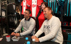 Southampton legends Rickie Lambert and Matt Le Tissier visit the Saints Megastore in West Quay Shopping Centre, Southampton, to launch the club's new 'Legends' range, 30th April 2018