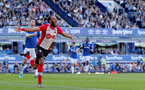 LIVERPOOL, ENGLAND - MAY 05: Nathan Redmond of Southampton celebrates after putting his team 1-0 up during the Premier League match between Everton and Southampton at Goodison Park on May 5, 2018 in Liverpool, England. (Photo by Matt Watson/Southampton FC via Getty Images)