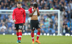 LIVERPOOL, ENGLAND - MAY 05: Sam McQueen(L) and Ryan Bertrand of Southampton during the Premier League match between Everton and Southampton at Goodison Park on May 5, 2018 in Liverpool, England. (Photo by Matt Watson/Southampton FC via Getty Images)