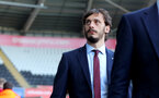 SWANSEA, WALES - MAY 08: Manolo Gabbiadini of Southampton ahead of the Premier League match between Swansea City and Southampton at Liberty Stadium on May 8, 2018 in Swansea, Wales. (Photo by Matt Watson/Southampton FC via Getty Images)