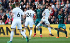 SWANSEA, WALES - MAY 08: Charlie Austin(L) of Southampton during the Premier League match between Swansea City and Southampton at Liberty Stadium on May 8, 2018 in Swansea, Wales. (Photo by Matt Watson/Southampton FC via Getty Images)