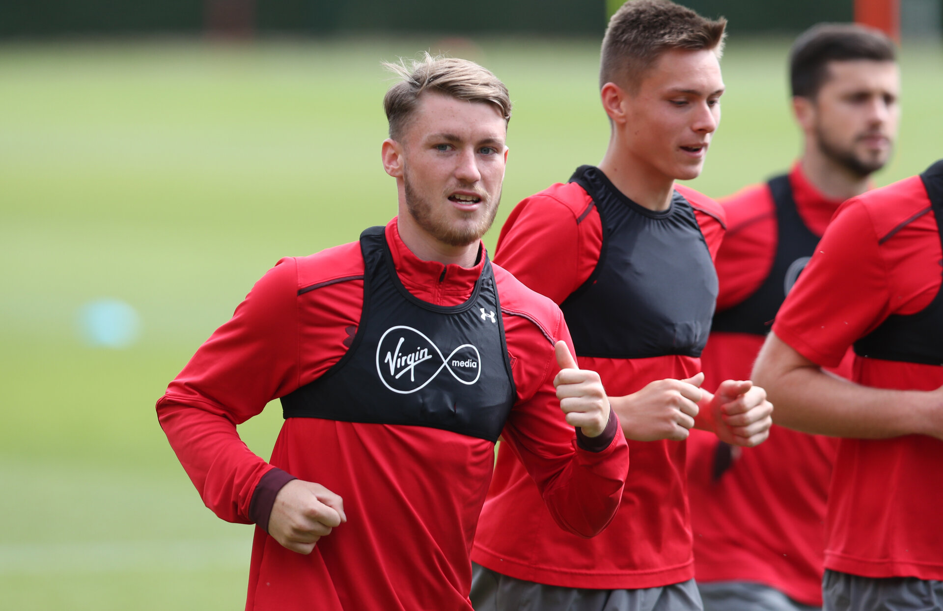 SOUTHAMPTON, ENGLAND - MAY 11: Callum Slattery during a Southampton FC training session at the Staplewood Campus on May 11, 2018 in Southampton, England. (Photo by Matt Watson/Southampton FC via Getty Images)