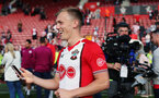 SOUTHAMPTON, ENGLAND - MAY 13: James Ward-Prowse. Lap of appreciation after the Premier League match between Southampton and Manchester City at St Mary's Stadium on May 13, 2018 in Southampton, England. (Photo by Chris Moorhouse/Southampton FC via Getty Images)