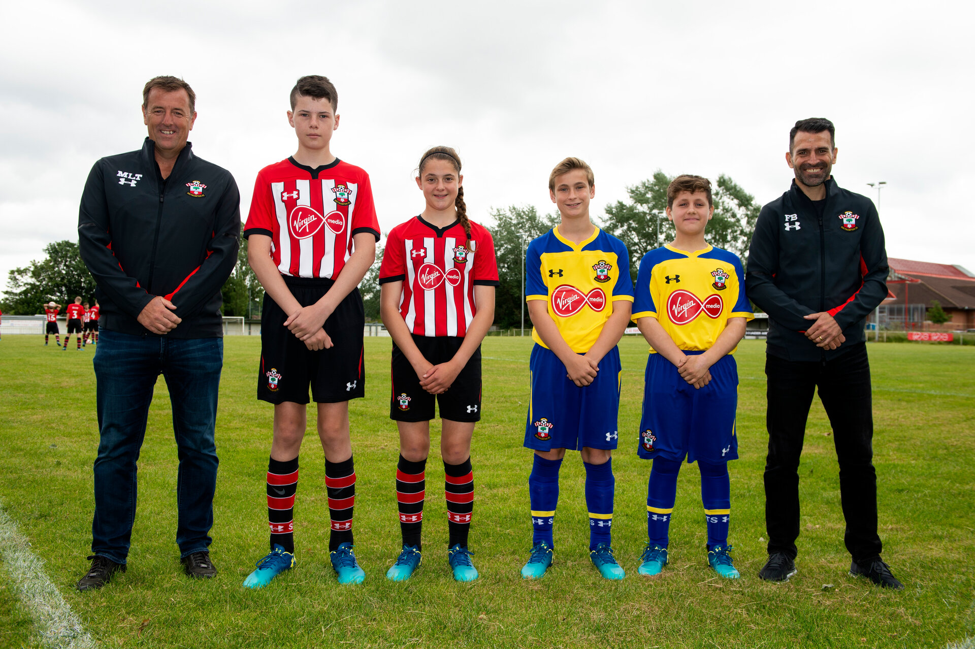 4e8e45d2f Romsey Town Youth and Littleton Juniors helped launch the kit
