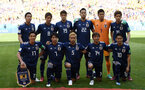SARANSK, RUSSIA - JUNE 19:  The Japan team pose for ay team photo prior to the 2018 FIFA World Cup Russia group H match between Colombia and Japan at Mordovia Arena on June 19, 2018 in Saransk, Russia.  (Photo by Carl Court/Getty Images)