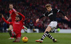 GLASGOW, SCOTLAND - JANUARY 31:  Stuart Armstrong of Dundee United battles with Shay Logan of Aberdeen during the Scottish League Cup Semi-Final match between Dundee United and Aberdeen at Hampden Park on January 31, 2015 in Glasgow, Scotland.  (Photo by Jamie McDonald/Getty Images)